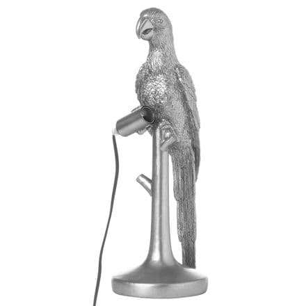 Percy The Parrot Silver Table Lamp